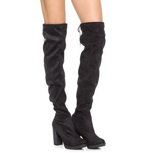 Free People North Star Over thé Knee Boot Black